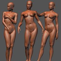 3d female sculptures