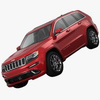 jeep grand cherokee srt 3d model