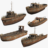 Rusty Boats Set