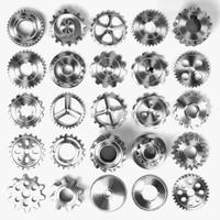 gear wheels 3d 3ds