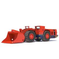 3d model of sandvik underground loader toro