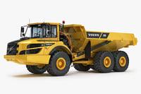 articulated truck a25g 3d model