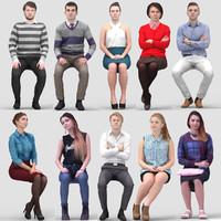 3D Human Model Vol. 2  Sitting People
