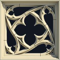 Small Square Gothic Window