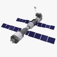 3d satellite space model