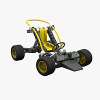 lego car rigging animation 3d model