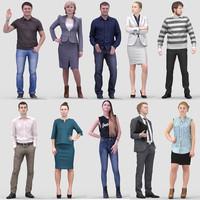 3D Human Model Vol. 1 Standing People