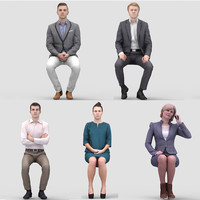 3D Human Model Vol. 1 Business Sitting People