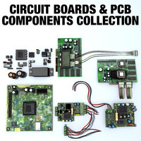 3d model circuit boards pcb components