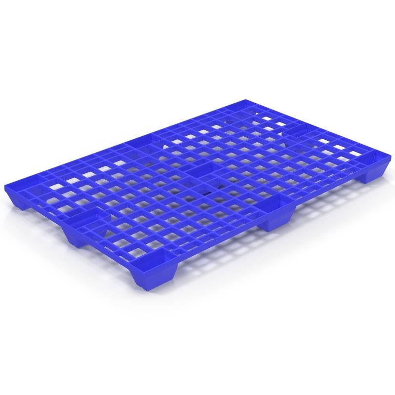 3ds plastic pallet blue