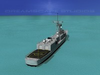 perry class frigate 3d dxf