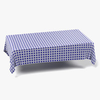 3d tablecloth rectangular model