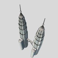 3d petronas twin model