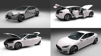 Tesla Model S with chassis/interior