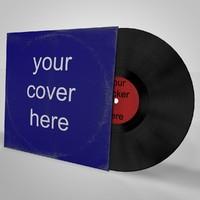 cinema4d lp vinyl cover