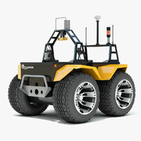 3d model grizzly robotic utility vehicle
