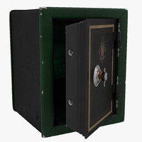 3d old safe 3 model