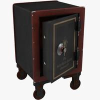 3d model old safe 2