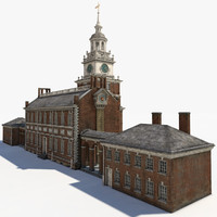 obj independence hall building