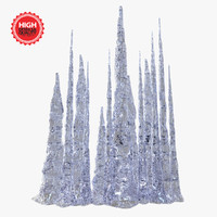 3d model icicles stalactites