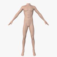 3d men mannequin model