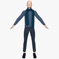 3d model jumper pants