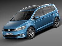 3d model 2016 volkswagen touran