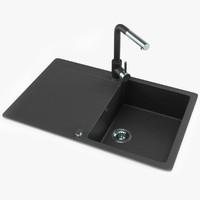 3ds kitchen sink faucet