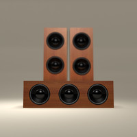 3d wooden tower speaker
