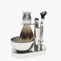 3d model razor shaving