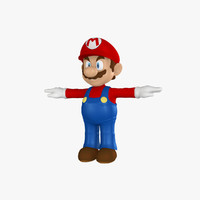 mario cartoon character 3d 3ds