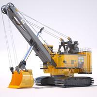rope shovel 7495hf 3d model