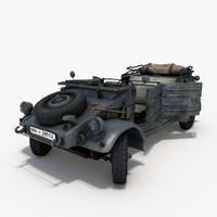 3d kubelwagen machine model