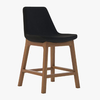 3d eiffel wood stool model