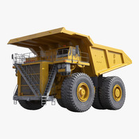 3d model heavy duty dump truck
