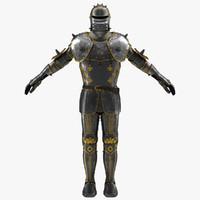 medieval suit armor 3d model
