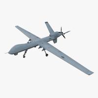 3d model unmanned combat air vehicle