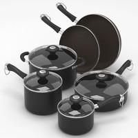 3ds max kitchen set pots