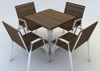 3d outdoor dining set