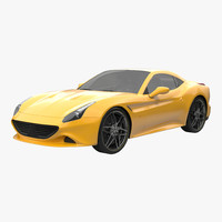 generic sport car simple 3d model
