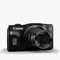camera canon powershot sx700 3d model
