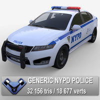 3d generic nypd police