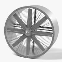 3d model of fan large