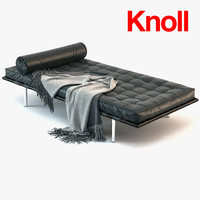 couch daybed barcelona 3d max