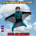 Wingsuit Guy 3D models