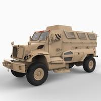 mrap resistant ambush protected 3d model