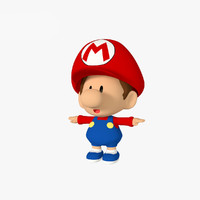 3d 3ds baby mario bros cartoon character
