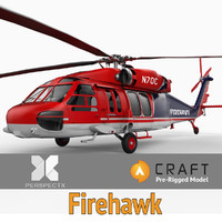 pre-rigged s-70a firehawk helicopter 3d model