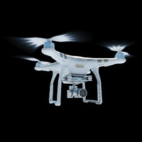3d dji phantom 3 quadcopter