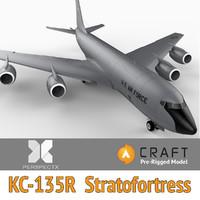 3d pre-rigged kc-135r stratotanker craft